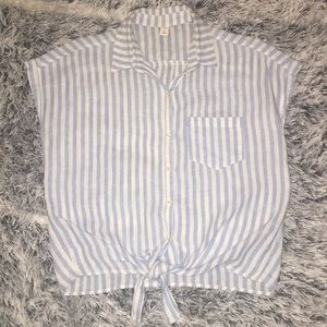 Old Navy Tie-Front Linen Blouse